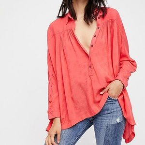 Free People Lovely Day button down top